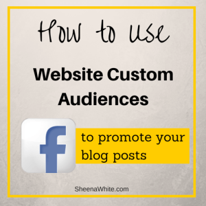 Promote Blog with Website Custom Audiences